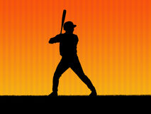 Baseball background. Illustration. Baseball player in action Stock Photography