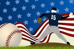 Baseball background ball Royalty Free Stock Photos
