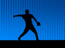 Baseball background blue Stock Photography
