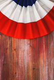 Baseball Background Of Bunting Over Wooden Planks Royalty Free Stock Images