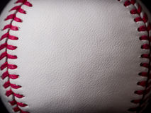 Baseball background. With close up of leather Stock Photography