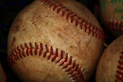 Baseball Background. Used baseball background close up view Royalty Free Stock Photo