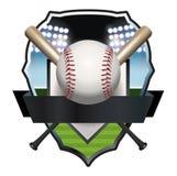 Baseball Badge Illustration Royalty Free Stock Photography