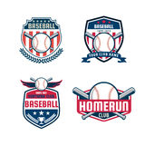 Baseball badge set Stock Image