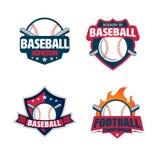 Baseball badge set royalty free illustration