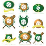 Baseball badges Royalty Free Stock Images