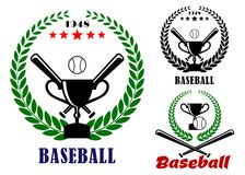 Baseball badges or emblems Stock Image