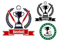 Baseball badges or emblems Stock Photography