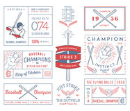 Baseball badges and icons Royalty Free Stock Photos