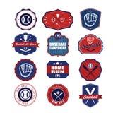 Baseball badges set. Stock Photos