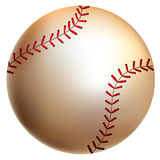 Baseball ball. Isolated baseball ball. Vector illustration Royalty Free Stock Photo