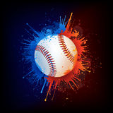 Baseball Ball. On Fire and Water Paint. Vector Stock Image