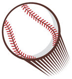 Baseball ball. White ball with red accents, baseball ball Royalty Free Stock Images