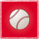 Baseball ball. Ball of baseball on a red background Stock Photography