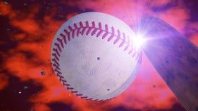 Baseball and ball Stock Photo