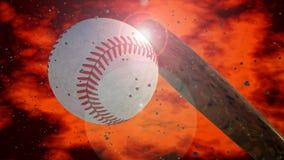 Baseball and ball Royalty Free Stock Photography