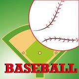 Baseball. Ball on abstract ground background Stock Photo