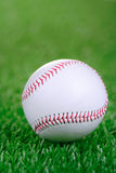 Baseball ball against grass background Royalty Free Stock Image