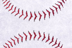 Baseball ball background. Or texture, real close up Royalty Free Stock Image