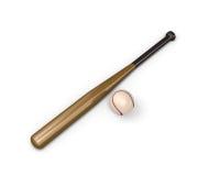 Baseball ball and bat Stock Photo