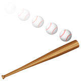 Baseball ball and bat Stock Photos