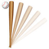 Baseball ball and bat Royalty Free Stock Photography