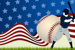 Baseball ball batting Royalty Free Stock Photos