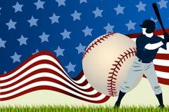 Baseball ball batting Royalty Free Stock Photos