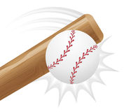 Baseball ball and bit vector illustration Stock Photography