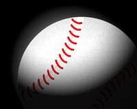 Baseball ball on black Stock Images