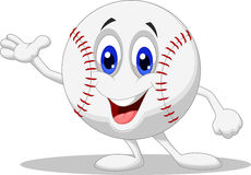 Baseball ball cartoon character Royalty Free Stock Photos