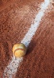 Baseball Ball Chalk Line Royalty Free Stock Image