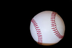 Baseball ball. Close up of a withe baseball ball Stock Image