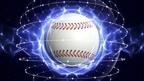 BASEBALL-BALL Computer-Animations-Hintergrund Lizenzfreies Stockbild