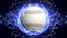 BASEBALL BALL Computer Graphics Background Royalty Free Stock Image