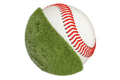 Baseball ball concept, 3D rendering. Isolated on white background Stock Photos