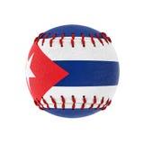 Baseball ball. 3d image of cuban baseball ball Stock Images