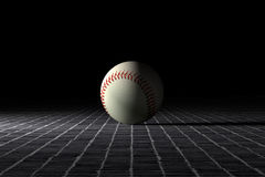 Baseball ball. 3d rendering of a baseball ball on an old tiles floor Royalty Free Stock Photography