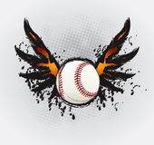 Baseball Ball Design Element. Drawing Vector Illustration