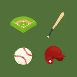 Baseball ball field bat hat Royalty Free Stock Photo