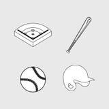 Baseball ball field bat hat Royalty Free Stock Photos