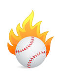 Baseball Ball in fire. Illustration design over a white background Royalty Free Stock Image