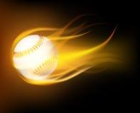 Baseball ball in flames Royalty Free Stock Photos