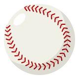 Baseball Ball Flat Icon Isolated on White Stock Photos