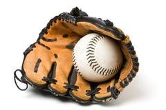 Baseball ball and glove Stock Image