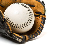 Baseball ball and glove Royalty Free Stock Image