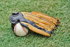 Baseball ball and Glove Stock Photo