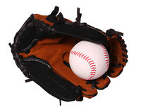 Baseball. Ball in Glove isolated Royalty Free Stock Images