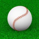 Baseball Ball on Grass. Sport Equipment 3D Illustration Stock Photography