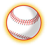 Baseball ball with halftone dots Royalty Free Stock Photos